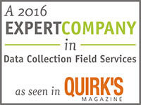 Gold Research: A 2016 Expert Company in Data Collection Field Services as seen in Quirk's Magazine